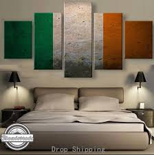 <b>5 Pieces</b> Modern <b>HD Print</b> Canvas Painting Irish Flag Painting ...