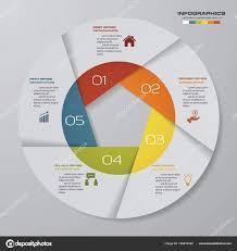 Modern Pie Chart Abstract Steps Modern Pie Chart Infographics Elements Vector
