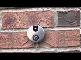 front door camera monitorDoorbell with camera and motion sensors shows whos at the front