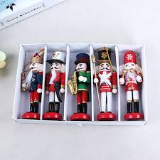 New Year Decor Kids <b>Doll</b> 1Pcs 12cm Wooden Nutcracker Soldier ...