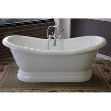 restoria empress  inch double slipper pedestal tub