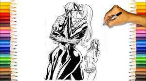 While coloring spiderman is more ideal for your elder kids, these are also a great way of developing. Spider Man Kissing Coloring Pages Spider Man Kiss Black Cat Coloring Pages Youtube