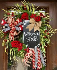 Large mason jar and ladybug wreath. Stunning! www.facebook.com/southernsass