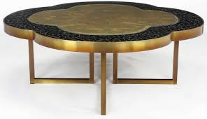 round mosaic black and gold coffee table adorable quatrefoil interior design home decoration furniture living room
