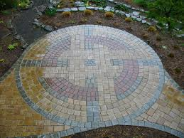 paver patio with gas fire pit. Circular Paver Patio Home Design Ideas And Pictures Menards Brick Kits Pave With Gas Fire Pit P