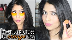 how to cover dark circles with orange eyeshadow does it work color