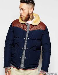 men s penfield shower proof rockwool superexcellent down fill jacket with leather yoke jhzmy district fashion aglnqt5689