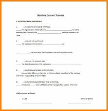 Wedding Contract Template.easy To Edit Wedding Contract Template In ...