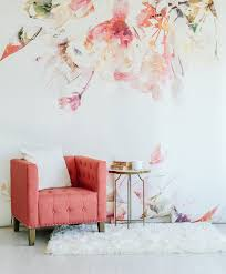Small Picture Spring Floral Large Wall Mural Watercolor Mural Wallpaper 125