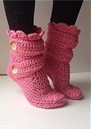 Crochet Slipper Boots Pattern