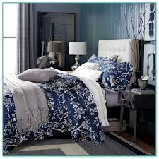 awesome idea blue fl comforter sets chaps home cape cod queen 4 pc reversible set with shams