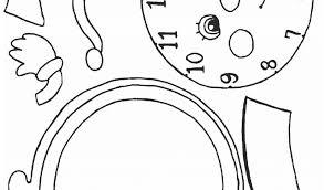 Orologio Da Stampare E Colorare Con Orologio Schede Didattiche