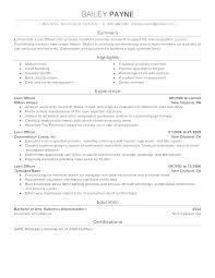 Loan Officer Resume Mortgage Loan Officer Resume Cover Letter