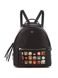 fendi embellished mini leather backpack black womens fendi backpack quality design