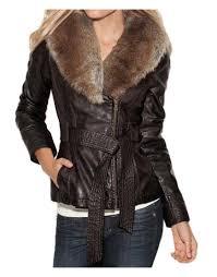 faux fur collar jacket
