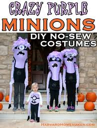 crazy purple minions diy no sew costumes