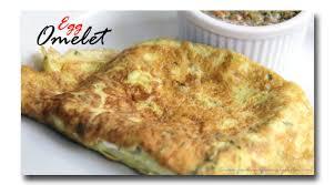 egg omelet egg omelette recipe card