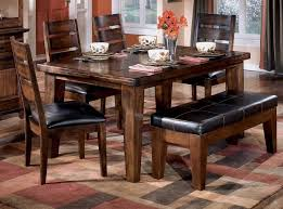 marvellous narrow kitchen table set with bench featuring padded leather