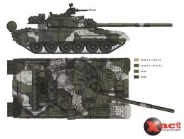 T-80 <b>Four</b>-<b>Color Camouflage</b> Color Profile and Paint Guide 04 in ...