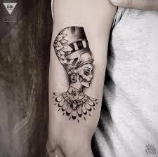 Nefertiti A Cargo De Axel Mad Ink Tattoo Ilustration فيسبوك