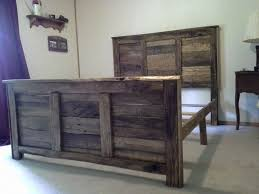 Queen size pallet headboard and footboard with frame | pallet and ...
