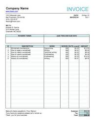 Invoice For Work Done Interesting 48 Free Freelance Invoice Templates [Word Excel]