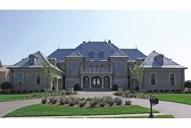 Eplans Chateau House Plan   Grand Manor   Square Feet and    Front