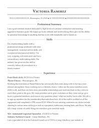 92a Resume Best Desk Clerk Resumes Resumehelp