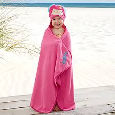 kids hooded beach towels. Embroidered Mermaid Kids Hooded Beach Towel - 20080 Towels O