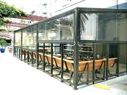 outdoor patio enclosures plastic dd patios with clear residential vinyl removable enc