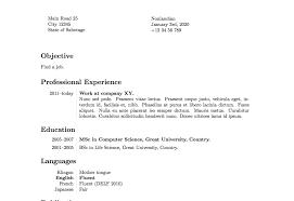 Latex Resume Format It Cover Letter Sample Template Github Tex
