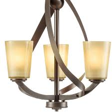 Kichler Lighting Layla 3 Light Brushed Nickel Chandelier Layla 3 Light Chandelier Olde Bronze Kichler Lighting