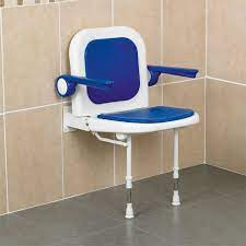 wall mounted shower seat with back and