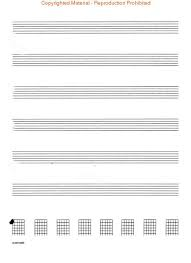 Music Writing Paper Guitar Tablature Manuscript Paper Standard Taylors Music