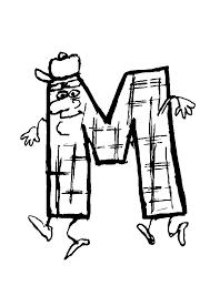 Kleurplaat Alfabet Poppetjes Animaatjesnl