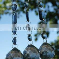 crystal garland with glass crystal chandelier
