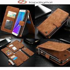 luxury original vintage genuine leather case for samsung galaxy note 5 w card pocket zipper wallet flip magnet cover for note5 cute cell phone cases cell