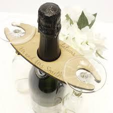 personalised wine glass bottle holder wood