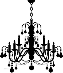 candle chandelier wall stickers wall art decal transfers ns5kvn clipart