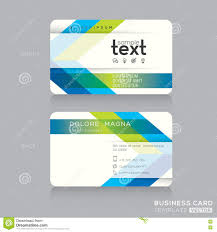 Green Card Template Trendy Business Card Template With Green And Blue Arrow Background