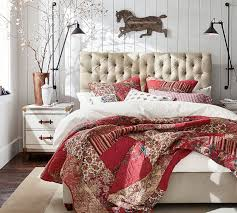 tufted upholstered bed. Pottery Barn CHESTERFIELD UPHOLSTERED BED \u0026 HEADBOARD Tufted Upholstered Beds Sale Bed