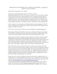 syllabus fidm  fidm survey of western art i ancient art history spring 2012 syllabus and