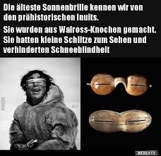 Die älteste Sonnenbrille Kennen Wir Von Den Prähistorischen