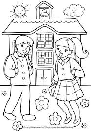 colouring for children. Modren Colouring Nice School Colouring Pages Coloring Photos Of Sweet Children  Page Template For U