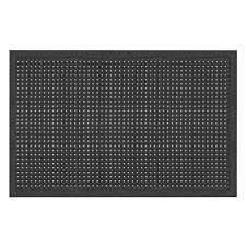 Kitchen Fatigue Floor Mat Notrax Comfort Ease Black 30 In X 60 In Rubber Anti Fatigue