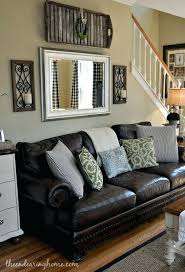 brown leather couches decorating ideas. Wonderful Brown Brown Leather Couch Living Room Decoration  Adding A Mirror Above The   And Brown Leather Couches Decorating Ideas