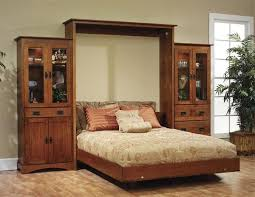 solid wood mission murphy bed from