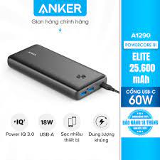 Pin dự phòng PowerCore III Elite 25.600mAh Power Delivery 60w A1290