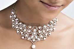 signity diamonds and pearls necklace