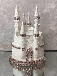 Amazoncom 4 12 White And Pink Fairytale Castle Cake Topper
